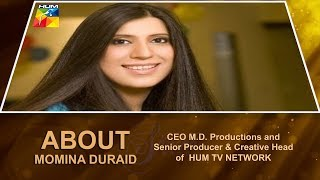 ABOUT MOMINA DURAID, CEO M.D. PRODUCTIONS