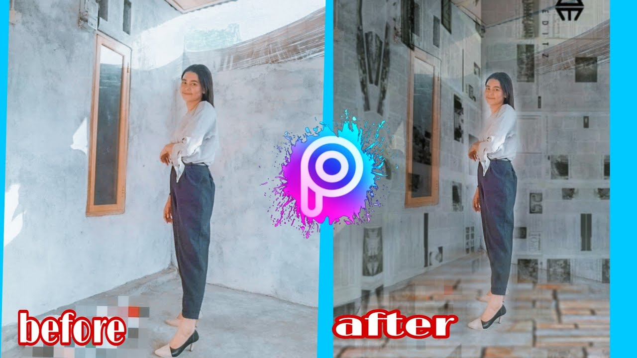 Cara edit foto background koran - YouTube