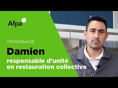 Témoignage - Damien, ancien stagiaire et responsable d'unité de restauration collective