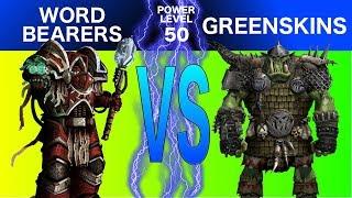 Warhammer 40k 8th Edition Live Battle Report: Word Bearer vs. Orks