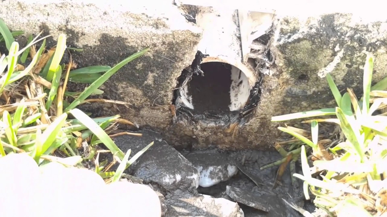 Pool Deck Drain Repair - Part 1 - YouTube