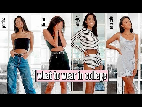 back to school clothing haul || what to wear in college ft. Boohoo