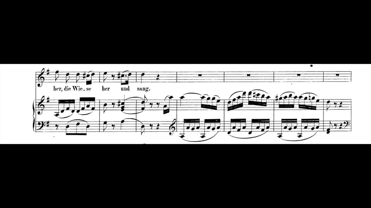 M Buchberger Lied Das Veilchen W A Mozart By M Buchberger