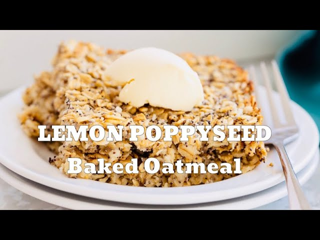 LEMON & POPPY SEED VEGAN BAKED OATMEAL | Vegan Richa Recipes