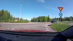 【4K】Myllykoski to Kouvola and Kouvola Drive