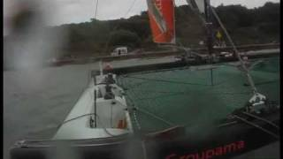 Extreme Sailing Series - Groupama Crash in Cowes