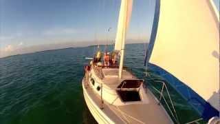 Troy sailing his Catalina