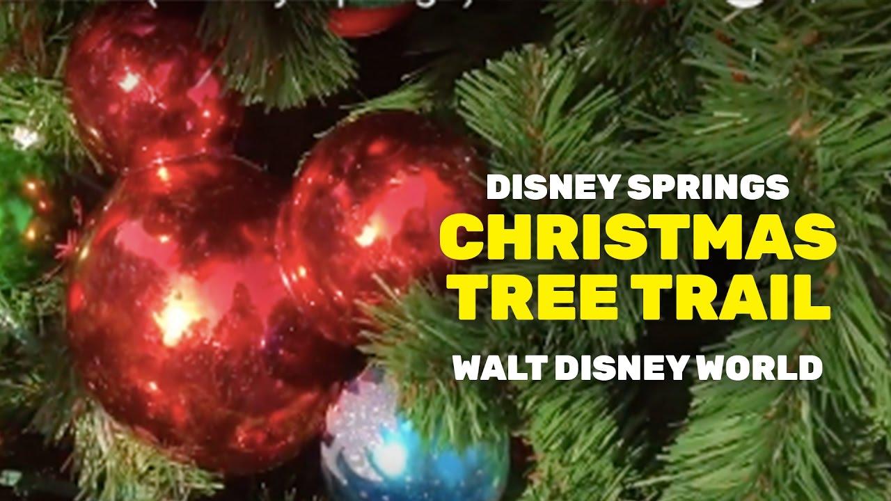 holiday christmas tree trail disney springs
