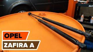 Jak wymienić sprężyna gazowa pokrywy bagażnika w OPEL ZAFIRA A TUTORIAL | AUTODOC