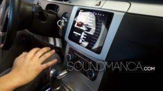 iPad mini car dash install in a 2010 VW CC, soundman float mount wireless @soundmanca