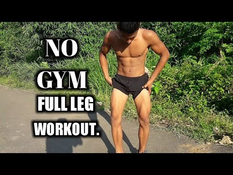 no gym full leg workout no equipment needed  anish