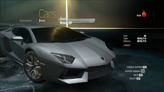Need For Speed Undercover Aventador Update thingy