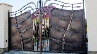 Дизайн и изготовление распашных кованых ворот(, 2014-09-28T13:20:06.000Z)
