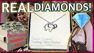 BURLINGTON COAT FACTORY DUMPSTER DIVE! 💎 I FOUND REAL DIAMOND JEWELRY!