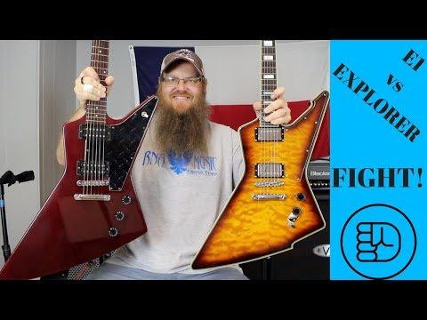 Schecter E1 vs Gibson Explorer