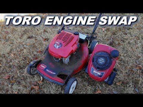 Toro recycler Honda engine swap
