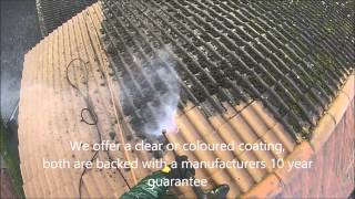 Roof cleaning in the UK - Removing moss from concrete roof tiles by Great Outdoors and In Ltd