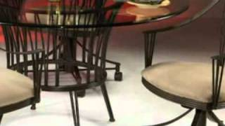 Metropolitan Dining Set Caster Chairs - Pastel Furniture