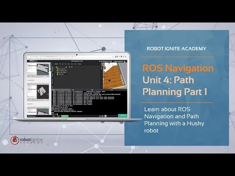 [ROS Tutorials] ROS Navigation. Unit 4# Path Planning with a Husky robot - Part 1