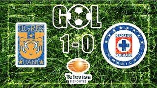 Gol Tigres 1-0 Cruz Azul J13 Ap-2014