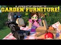 Minecraft: GARDEN FURNITURE!!! (GAZEBO, HAMMOCK, BENCHES & TABLES!) Custom Command