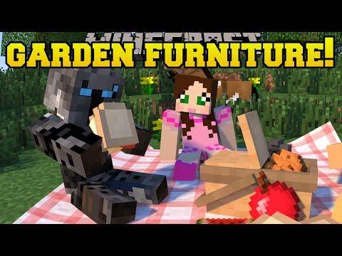 Minecraft: GARDEN FURNITURE!!! (GAZEBO, HAMMOCK, BENCHES & TABLES!) Custom Command - Видео из Майнкрафт (Minecraft)