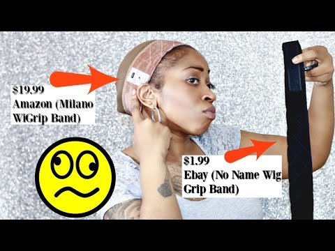 "Save Your Edges w/ WiGrip Band ""High End"" vs ""Low End"" 😉  Comparing Ebay & Amazon Wig Grip Bands ☆"