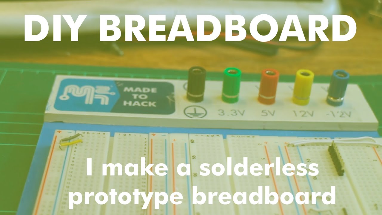 How To Make A Solderless Prototype Breadboard Youtube Breadboards Are Used Electronic Circuits Without Having