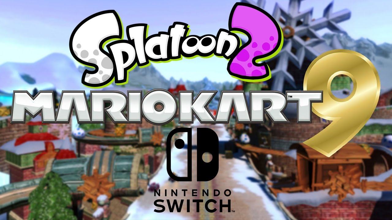 nintendo switch mario kart 9 splatoon2 youtube. Black Bedroom Furniture Sets. Home Design Ideas