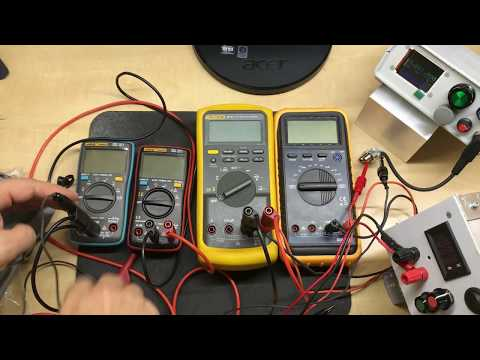 ANENG AN8008 True RMS vs AN8002 vs FLUKE 87V vs Mastech (clone) MY-68