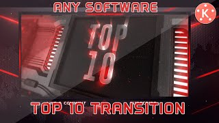 Top 10 3D Transitions For Kinemaster (Green Screen) Ll Any Application Ll Android Graphics Spot