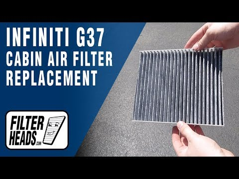 How to Replace Cabin Air Filter 2008 Infiniti G37