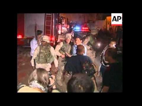 WRAP Massive blast hits central Baghdad hotel