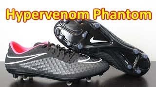 Nike Hypervenom Phantom Stealth Pack Black/White/Hyper Punch - Unboxing + On Feet