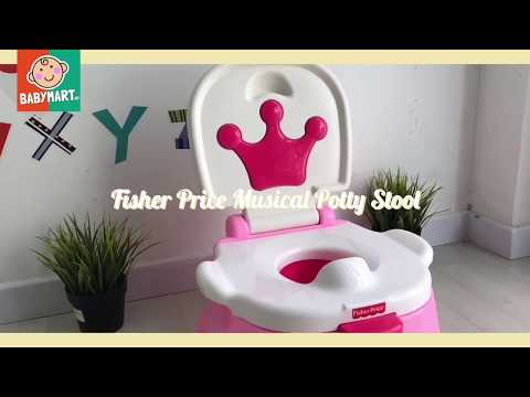 HIGH QUALITY! FISHER PRICE ROYAL MUSICAL POTTY TRAINING STEPSTOOL. AT BABYMART.MY Via LAZADA