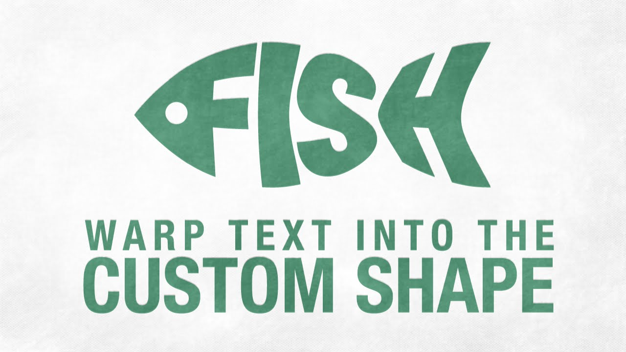 warp text into the custom shape in adobe illustrator cc youtube
