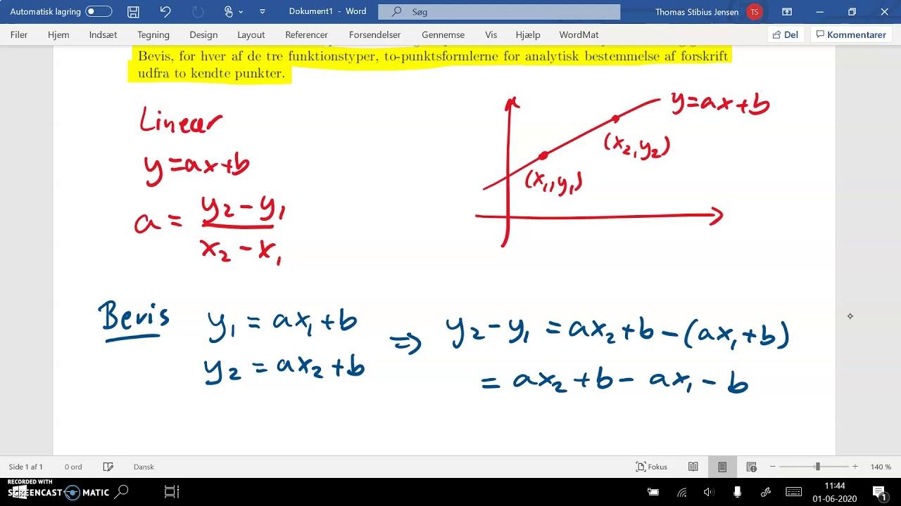 spg1 del2a topunktsformel lineær