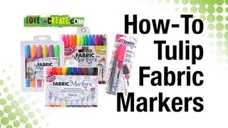 How-To Tulip Fabric Markers