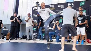 UFC 234 Open Workouts