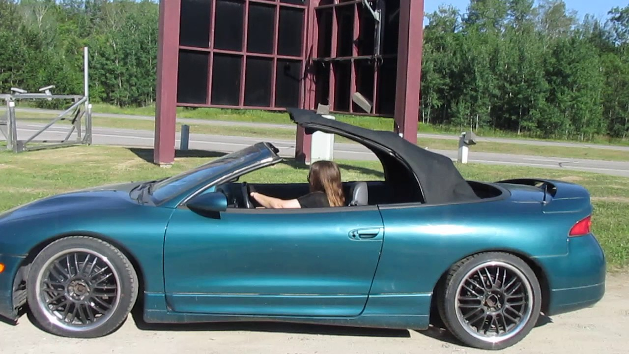 1996 mitsubishi eclipse spyder converible lefty s online auction 93 youtube 1996 mitsubishi eclipse spyder