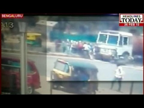Speeding Tanker Mows down 5 people in Bangalore