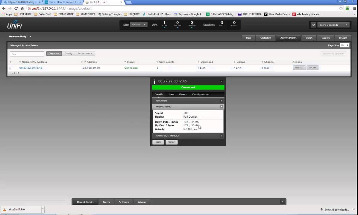 Unifi firmware upgrade via ssh