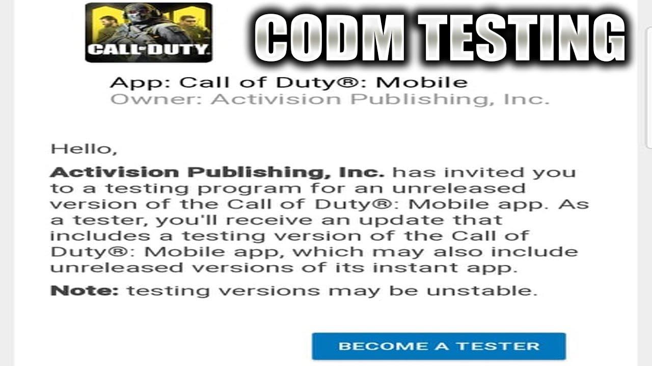 Call of Duty Mobile beta testing link gets leaked - PiunikaWeb