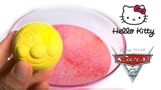 Cars2 Bath Powder Balls Anpanman Hello Kitty by Unboxingsurpriseegg