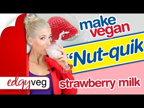 Vegan Strawberry Milk Recipe from The Edgy Veg