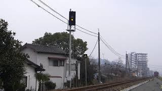 2016/2/1 特急「ゆふ4号」走行@日田~光岡間