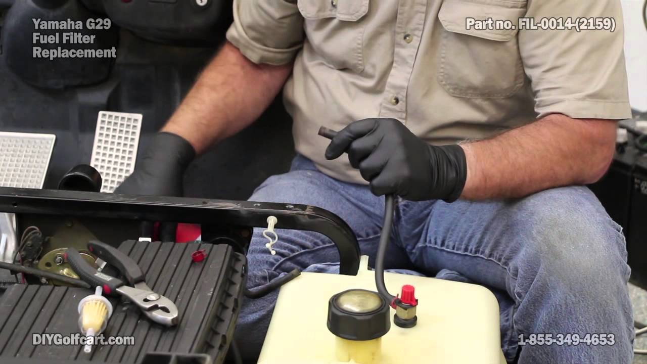 yamaha fuel filter replacement on golf cart how to install youtubegolf cart fuel filter 1 [ 1280 x 720 Pixel ]