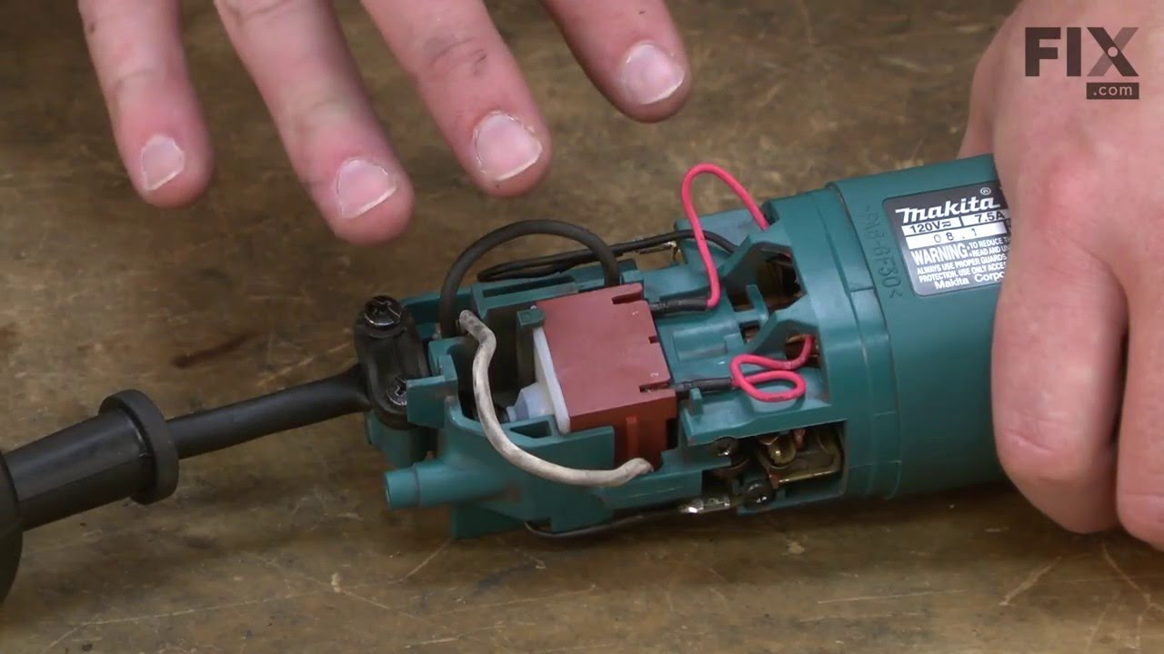 Makita Electric Drill Repair – How to replace the Cord Guard 8 on