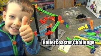 Roller Coaster Challenge (Thinkfun) - ab 6 Jahre - Teil 294 - Achterbahn selbst gebaut!