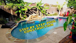 New Pool construction Time lapse and Step by Step